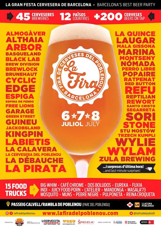 Cartel de la Feria de la Cerveza del Poblenou 2018