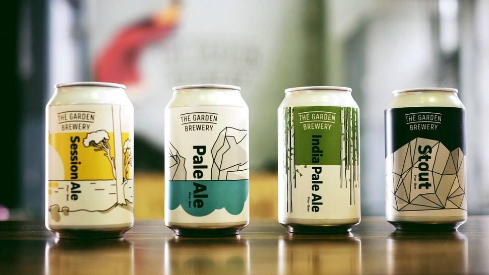 Algunas de las cervezas de The Garden Brewery