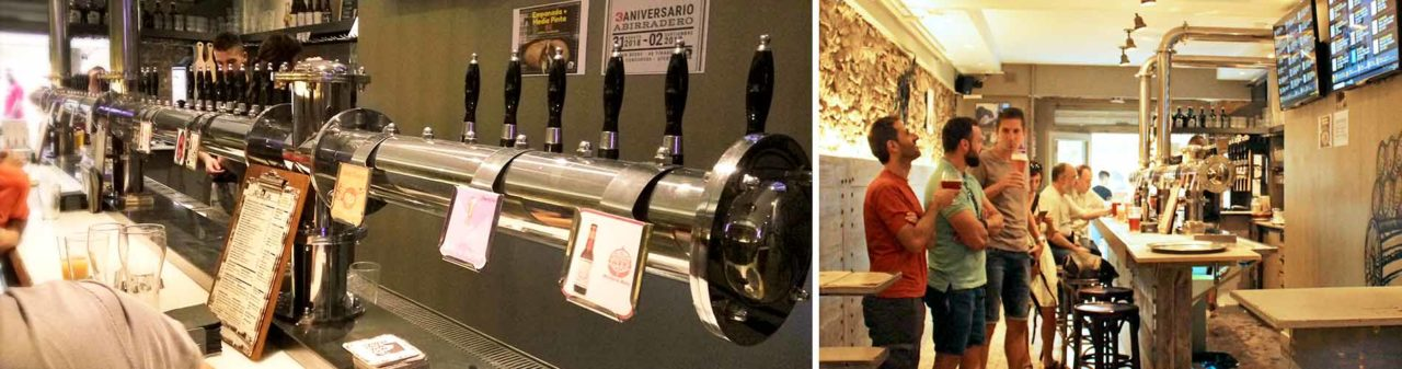 Tiradores de cerveza artesana en Abirradero