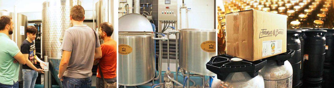 Visitando la fábrica de Abirradero y el Instituto de las Cervezas Artesanas