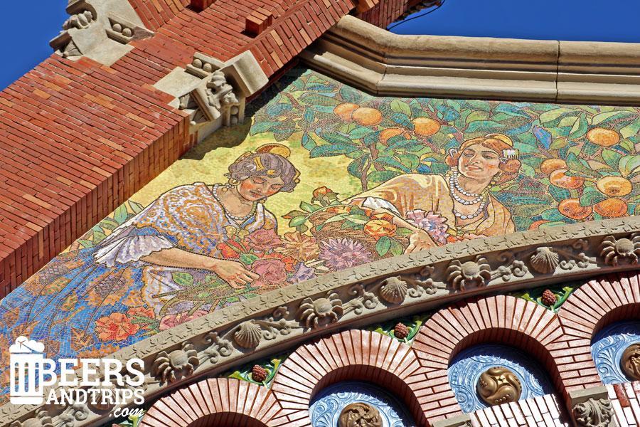 Detalle del Mercado de Colón en Valencia