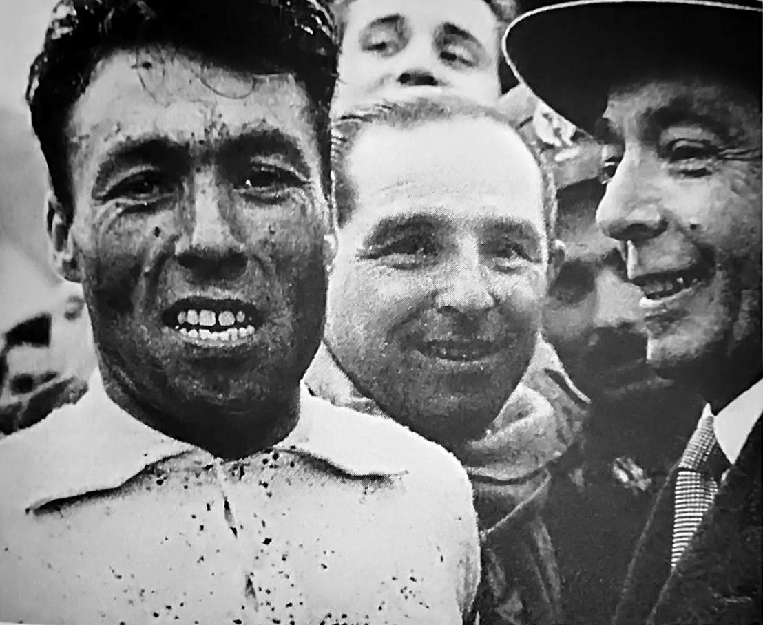 El ciclista Luigi Malabrocca, famoso por ganar la Maglia Nera