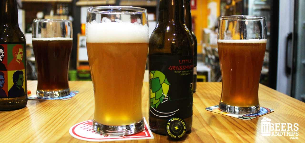 Probando las cervezas de Birra Birrae