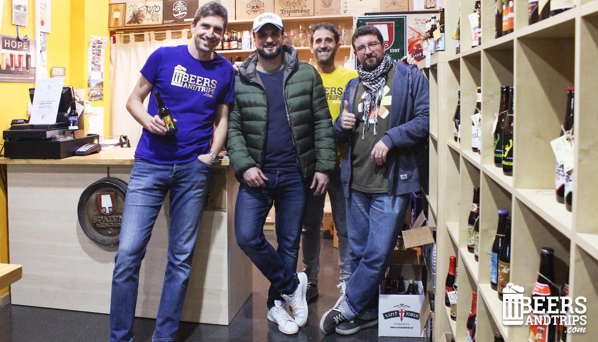 El equipo de Beers And Trips con Eric