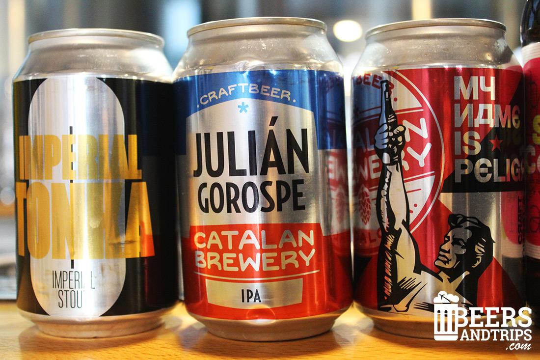 Varias de las cervezas de Catalan Brewery