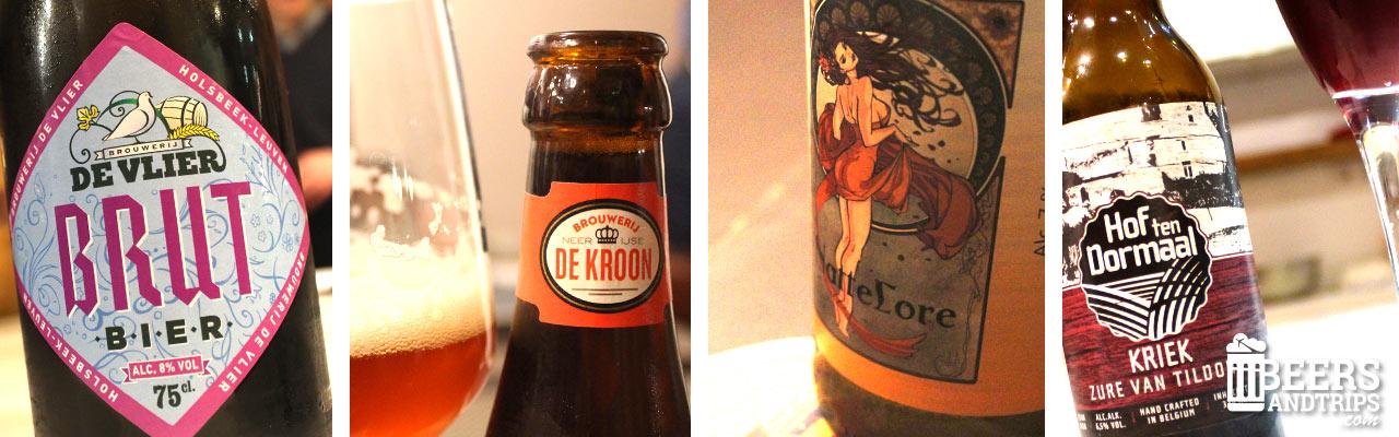 Las 4 cervezas belgas probadas durante el Workshop