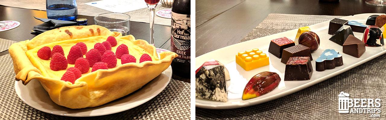 Tarta de queso y bombones belgas de la ciudad de Lovaina