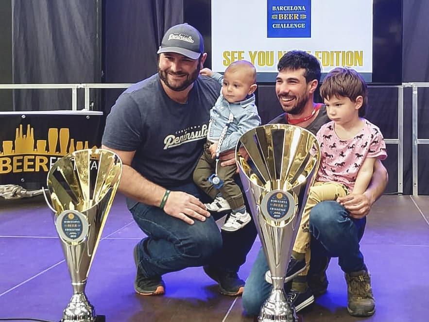 Cerveses La Pirata y Cervezas Península, ganadores del Barcelona Beer Challenge 2019
