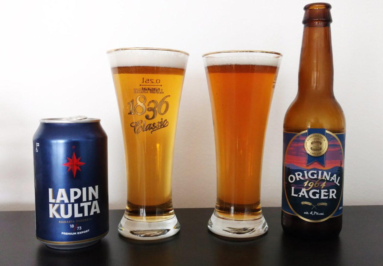 Lapin Kulta actual, que pertenece a Heineken y la Tornio Panimo Original 1964.