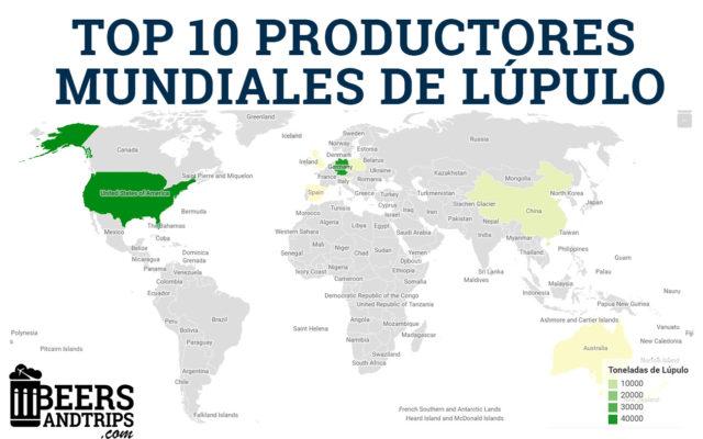 Principales productores de lúpulo en el mundo en 2018