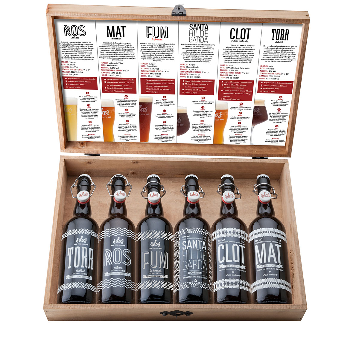 La gama de cervezas artesanas de Ilda's