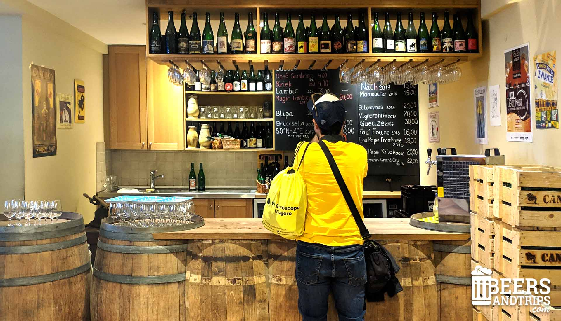 El bar de la fábrica Cantillon