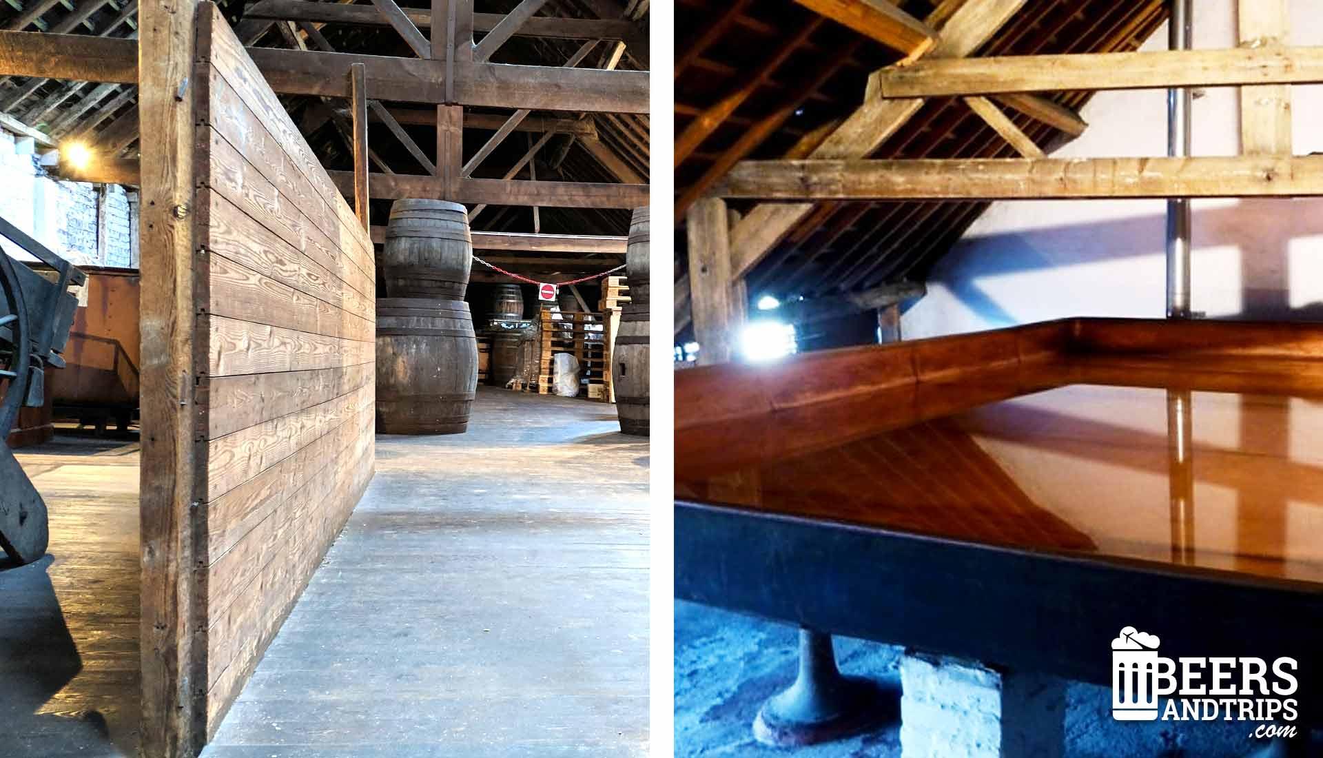 Granero y tina de enfriamiento de Cantillon