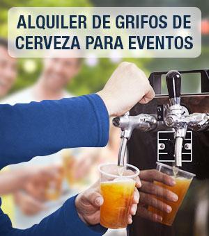 Alquiler de tiradores y grifos de cerveza para eventos