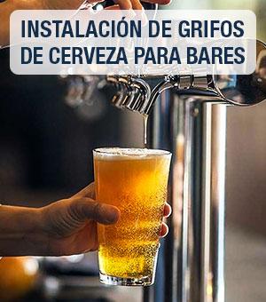 Instalación de tiradores y grifos de cerveza