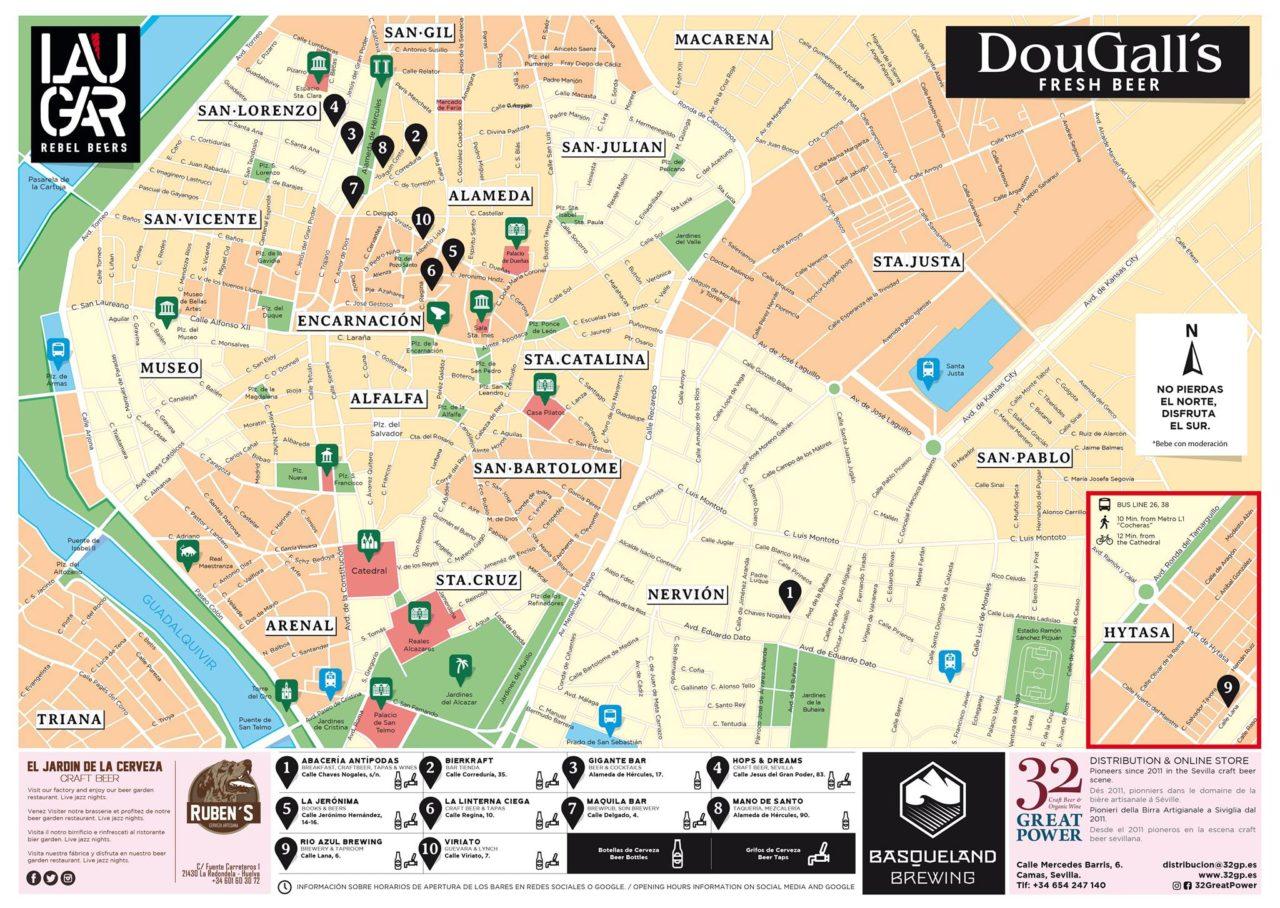 Zona Azul Sevilla Mapa.Craft Map Mapa De La Cerveza Artesana De Sevilla Beers