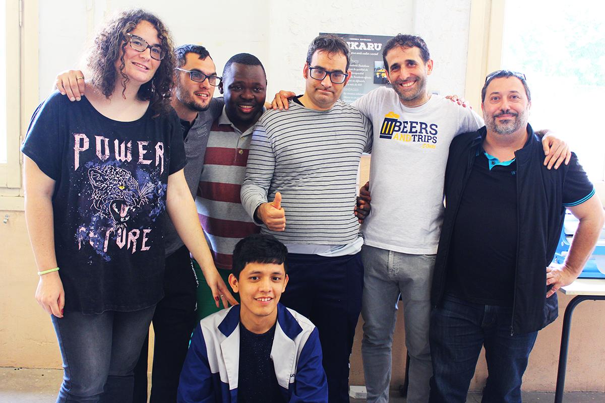 BeersAndTrips con el equipo de Cervezas Sikaru. Laura, Adrián, Víctor, Javi y Alberto; además de Antonio
