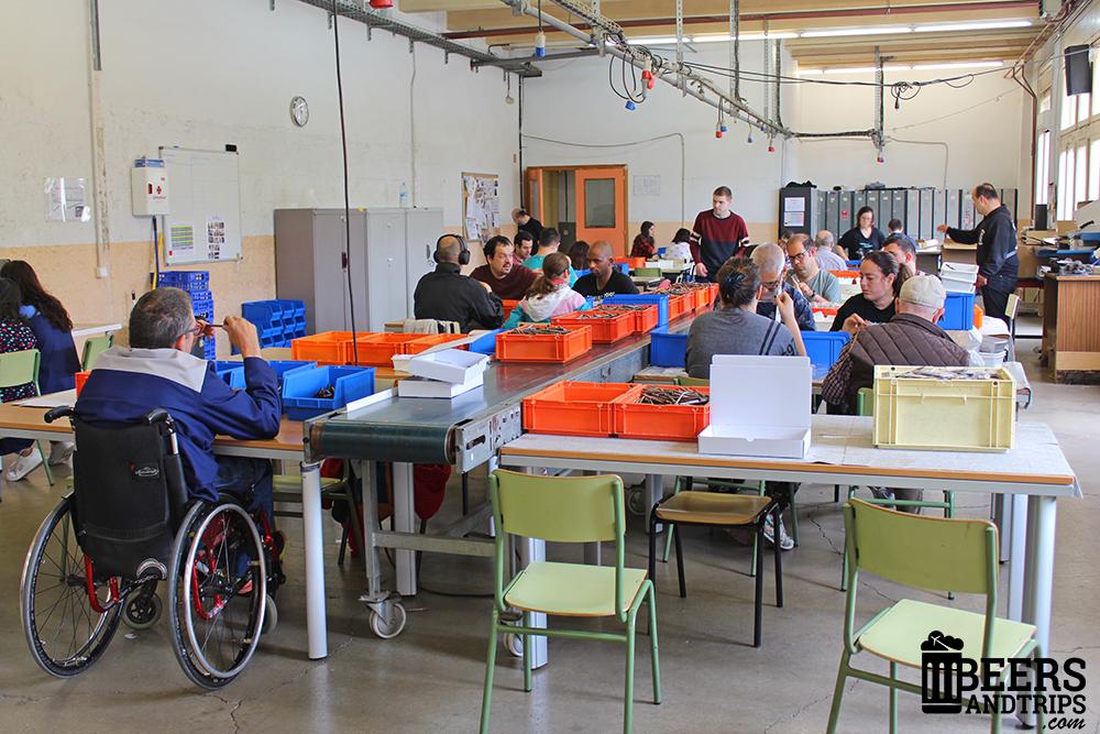 Trabajos de integración laboral en la Fundación Badalona Capaç