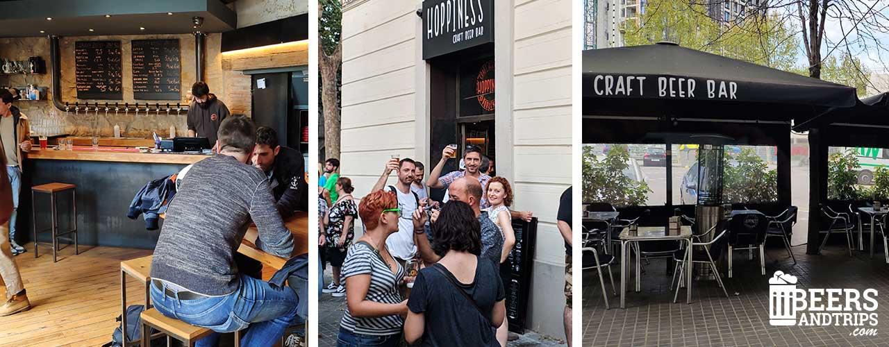 Cervecería artesana Hoppiness en Barcelona