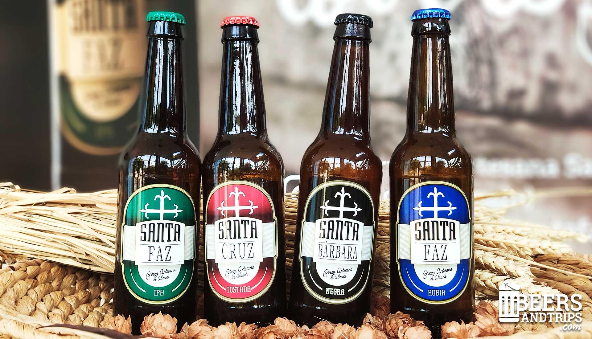 Cervezas Santa Faz: IPA, Brown Ale, Bock y Blonde Ale