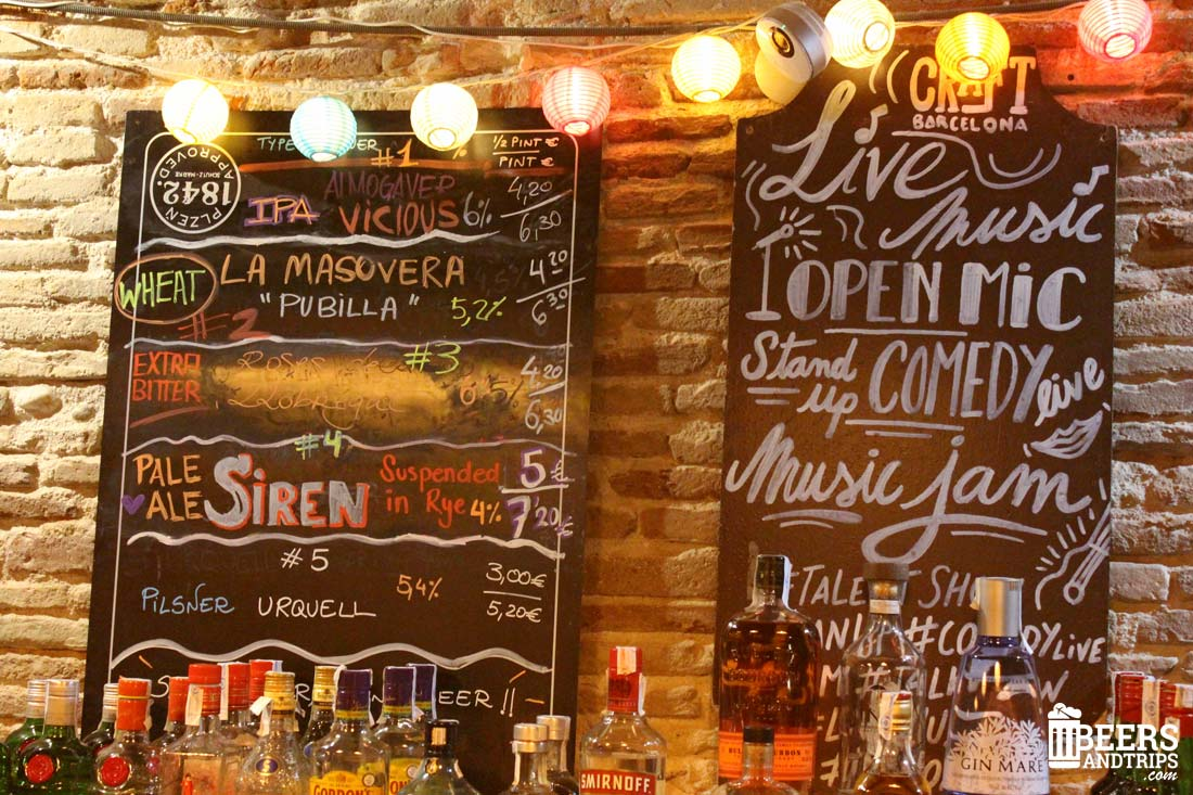 Cervezas artesanas locales pinchadas en el CraftBeer Pub