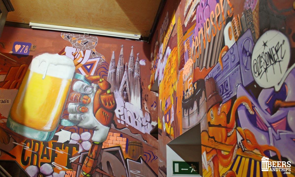 Graffiti cervecero en el CraftBeer