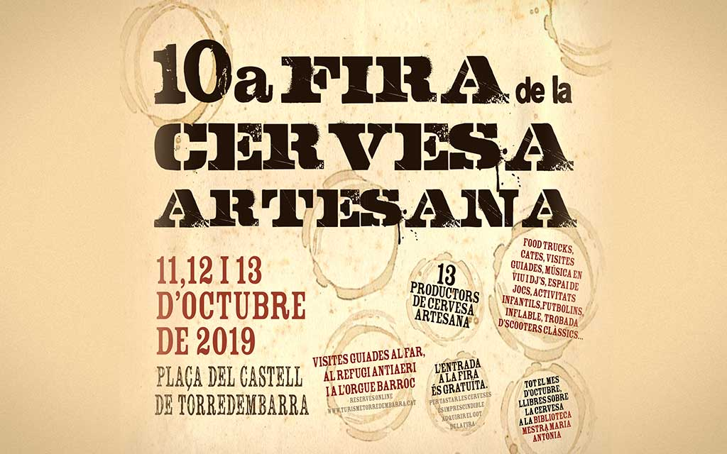 10 Edición Feria de Cerveza Artesana Torredembarra 2019