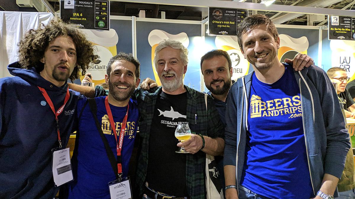 El equipo de Beers And Trips con los brewers de Dougall's en el BBF