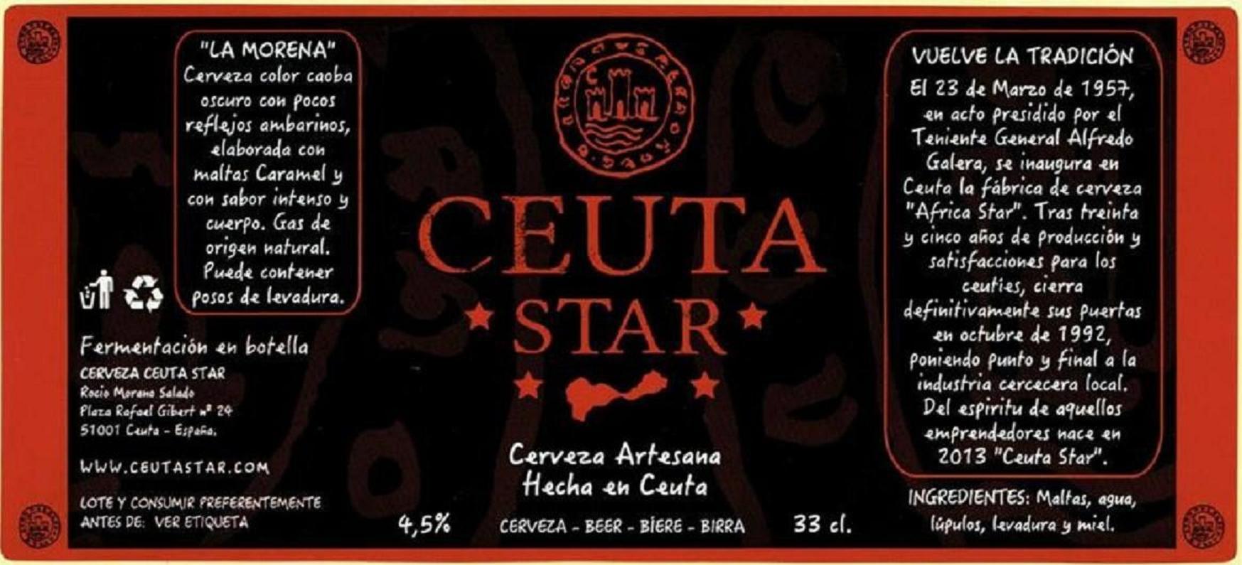 Ceuta Star, cerveza artesanal de Ceuta