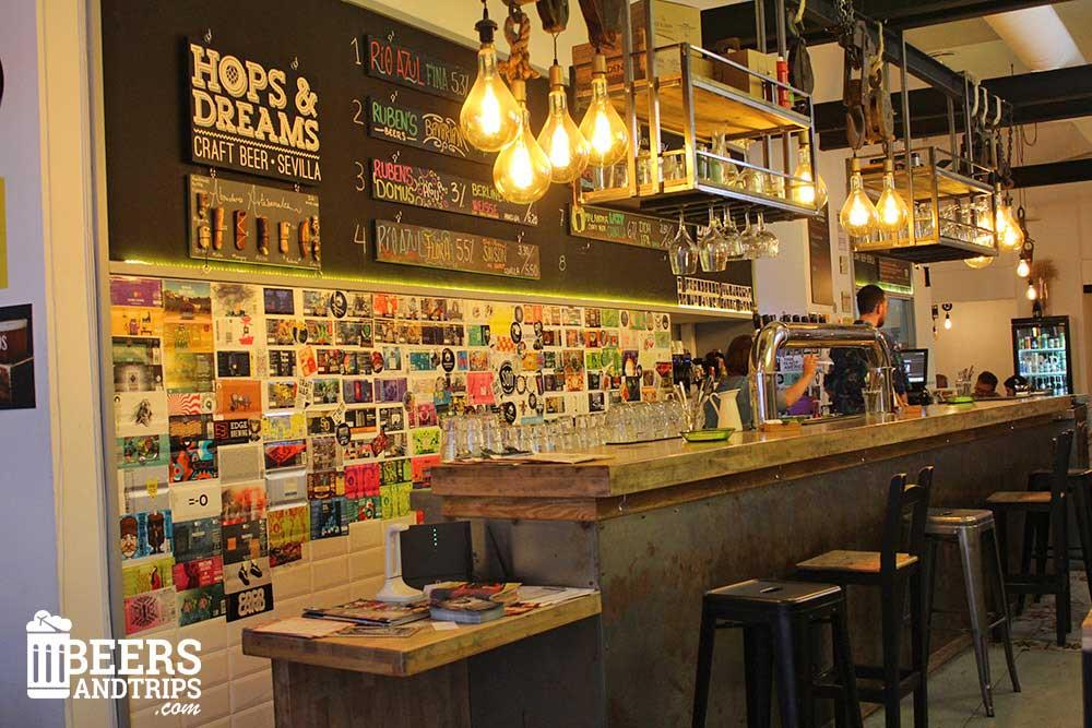 Hops and dreams. Uno de los mejores lugares para beber cerveza artesana en Sevilla