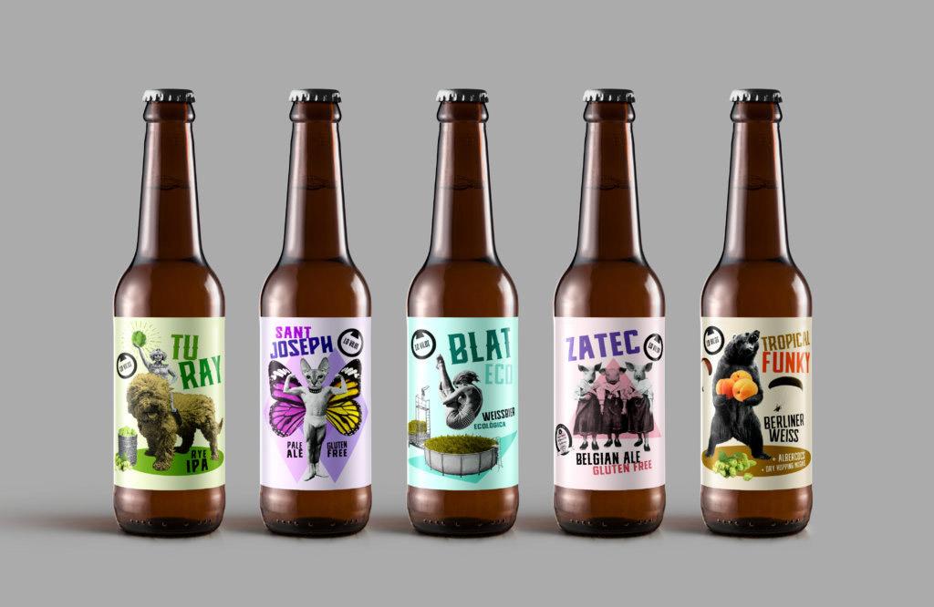 Algunas de las cervezas artesanas de Lo Vilot Farm Brewery