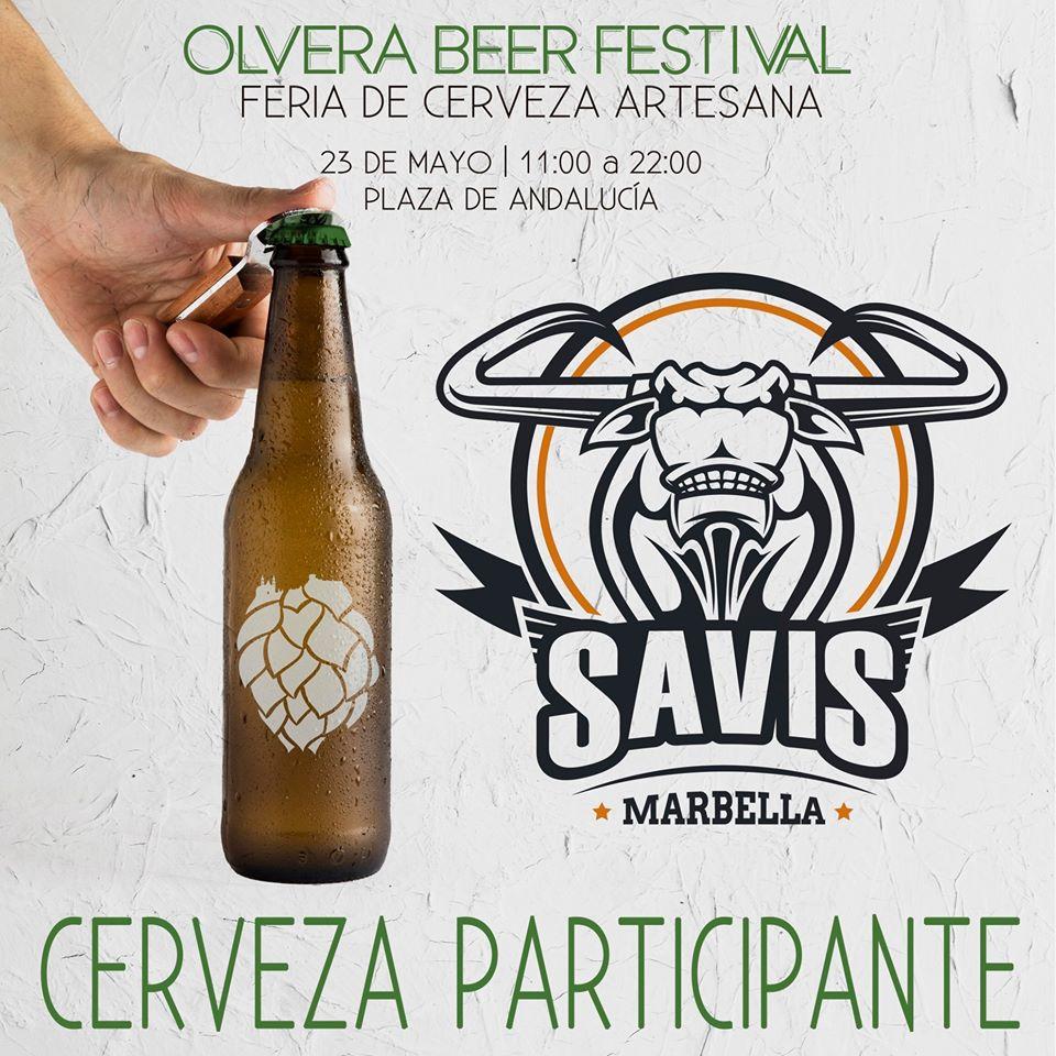 Cerveza artesana Savis de Marbella. Uno de los participantes en el Olvera Beer festival de 2020