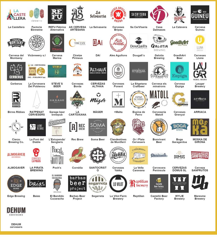 Cerveceras participantes Mediona 2020
