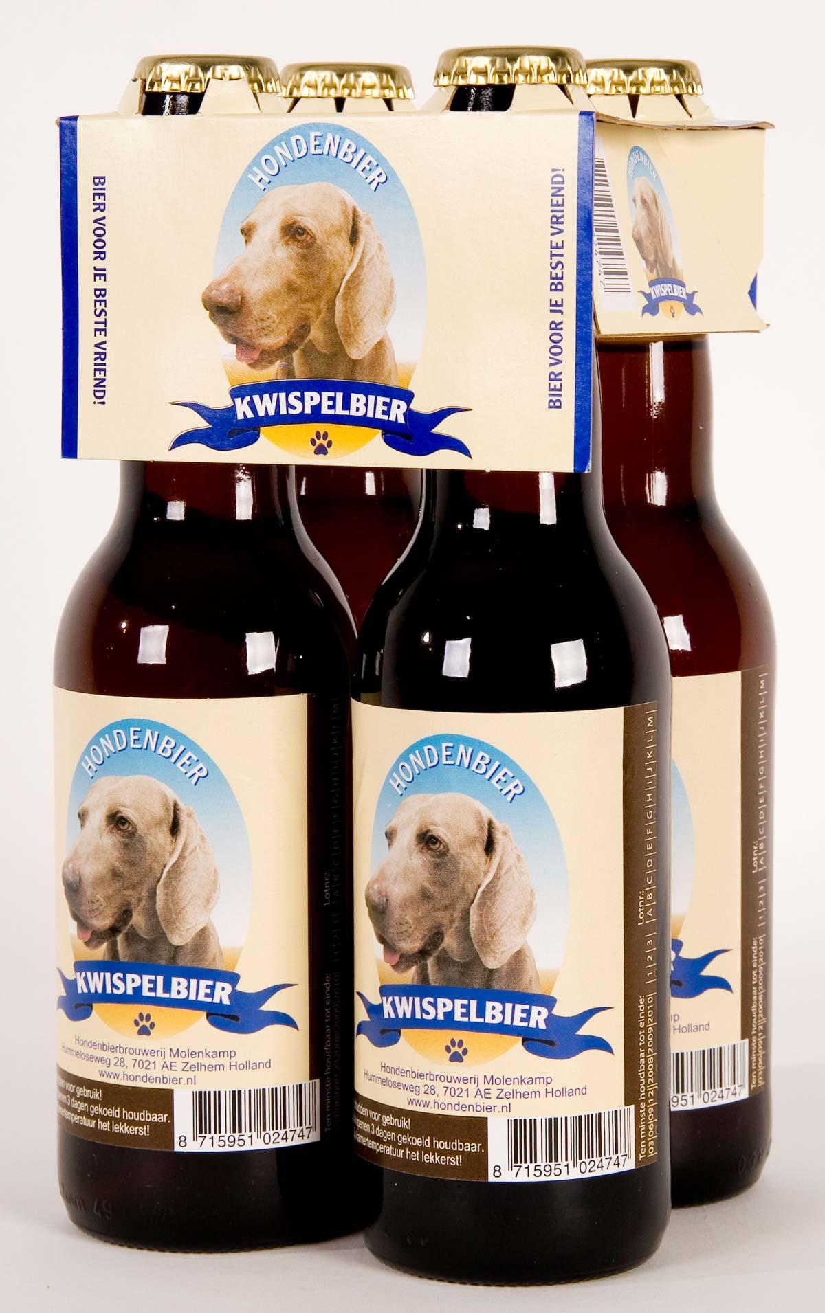 Kwispelbier, la cerveza para perros.