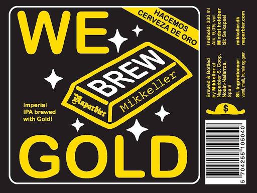 We Brew Gold, cerveza con oro en suspensión