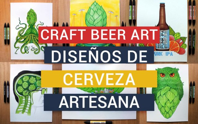 CRAFT BEER ART- Lettering de diseños de cerveza artesana