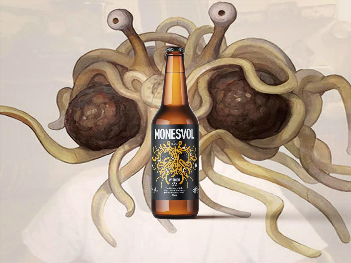 Cerveza Monesvol para la Iglesia Pastafari