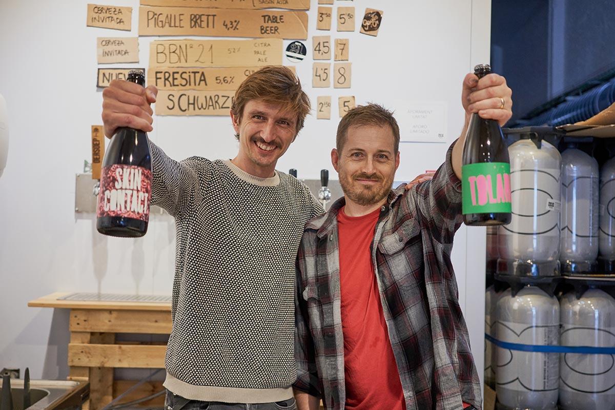 Alberto y Josh de Cyclyc Beer Farm. Foto © de Guillaume Dujardin