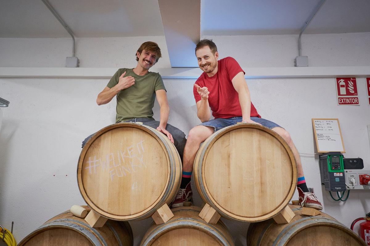 Alberto y Josh de Cyclic Beer Farm