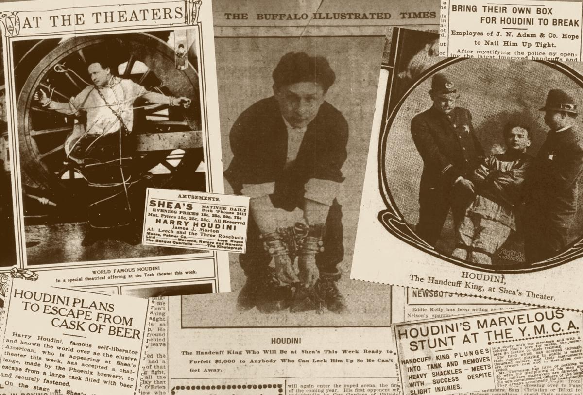 Recortes de prensa de Houdini en la prensa americana