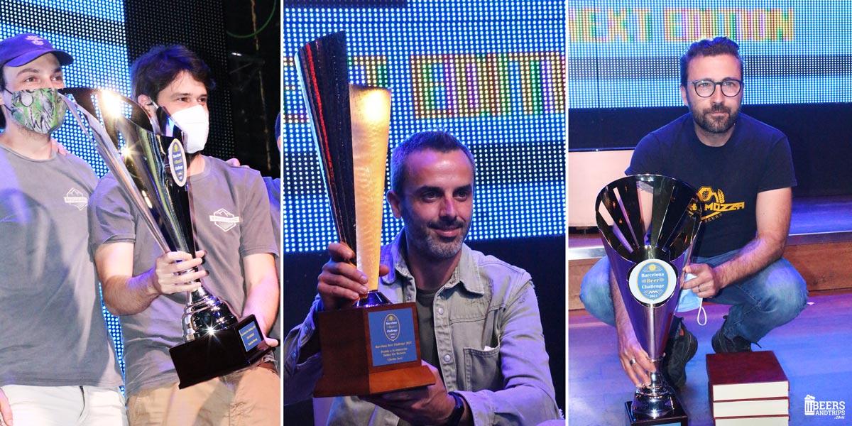 Basqueland mejor cervecera del Beer Challenge, 2021; Cátedra Beer Premio Molina for Brewers, y Torremozza mejor cervecera novel