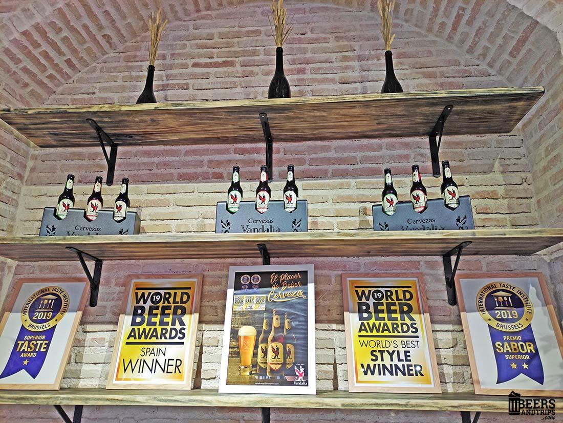 Premios y reconocimientos a las cervezas artesanas de Vandalia