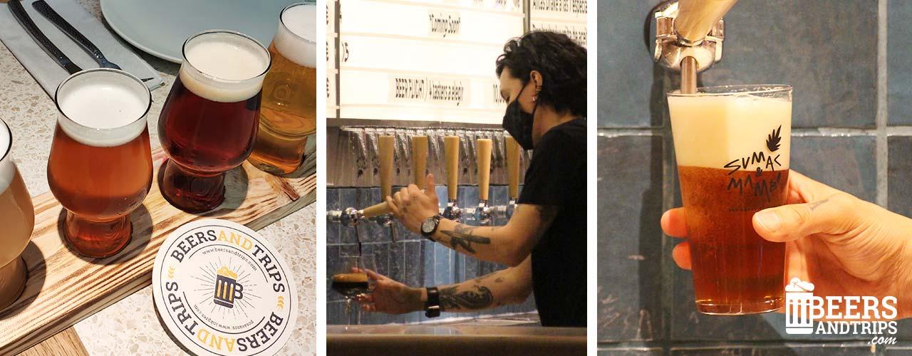 Cerveza artesanal en el Sumac & Mambo