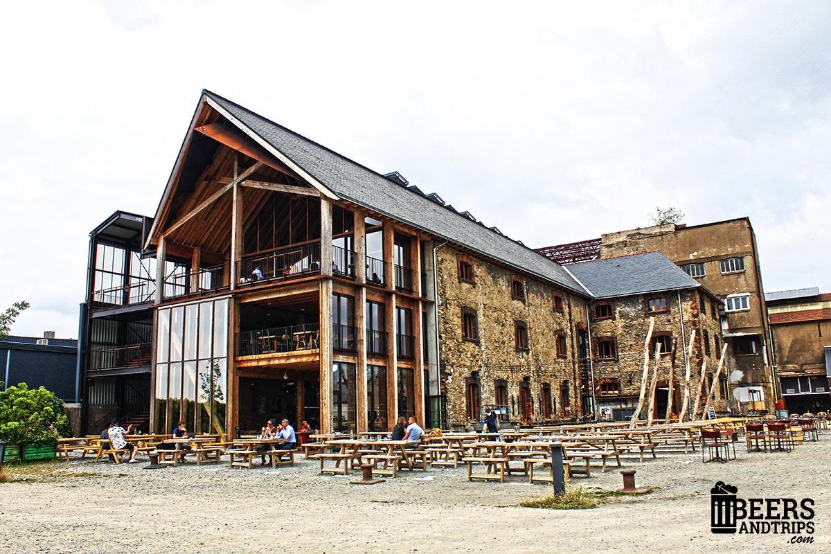 Edificio de la fábrica de Little Atlantique Brewery