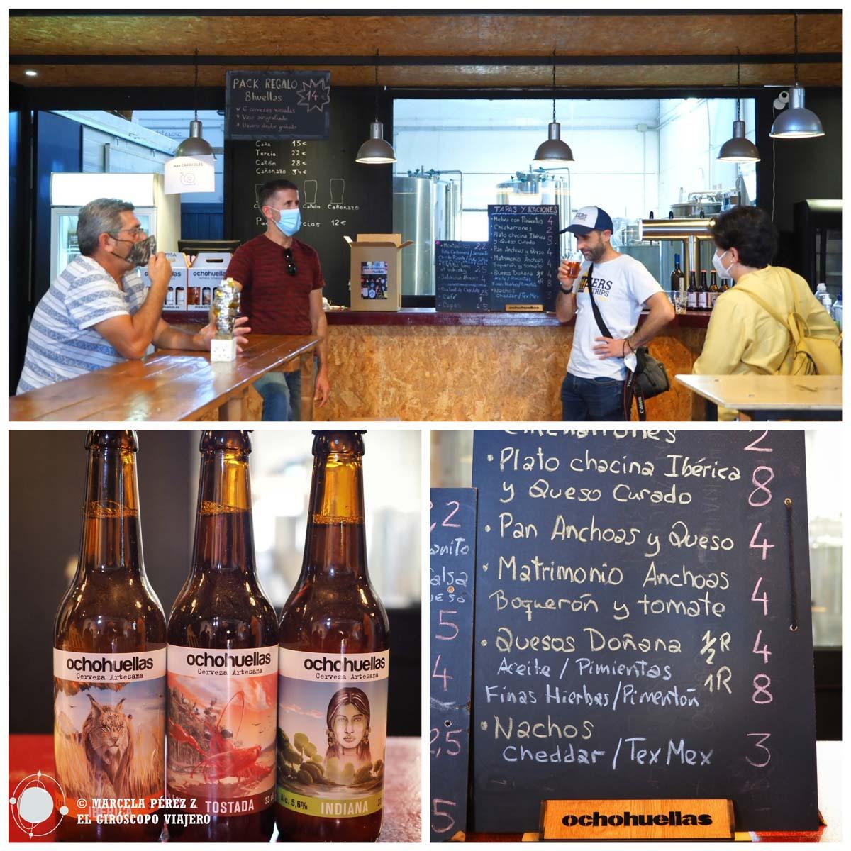 Ocho Huellas. Cerveza artesanal en la comarca del Bajo Guadalquivir de Sevilla