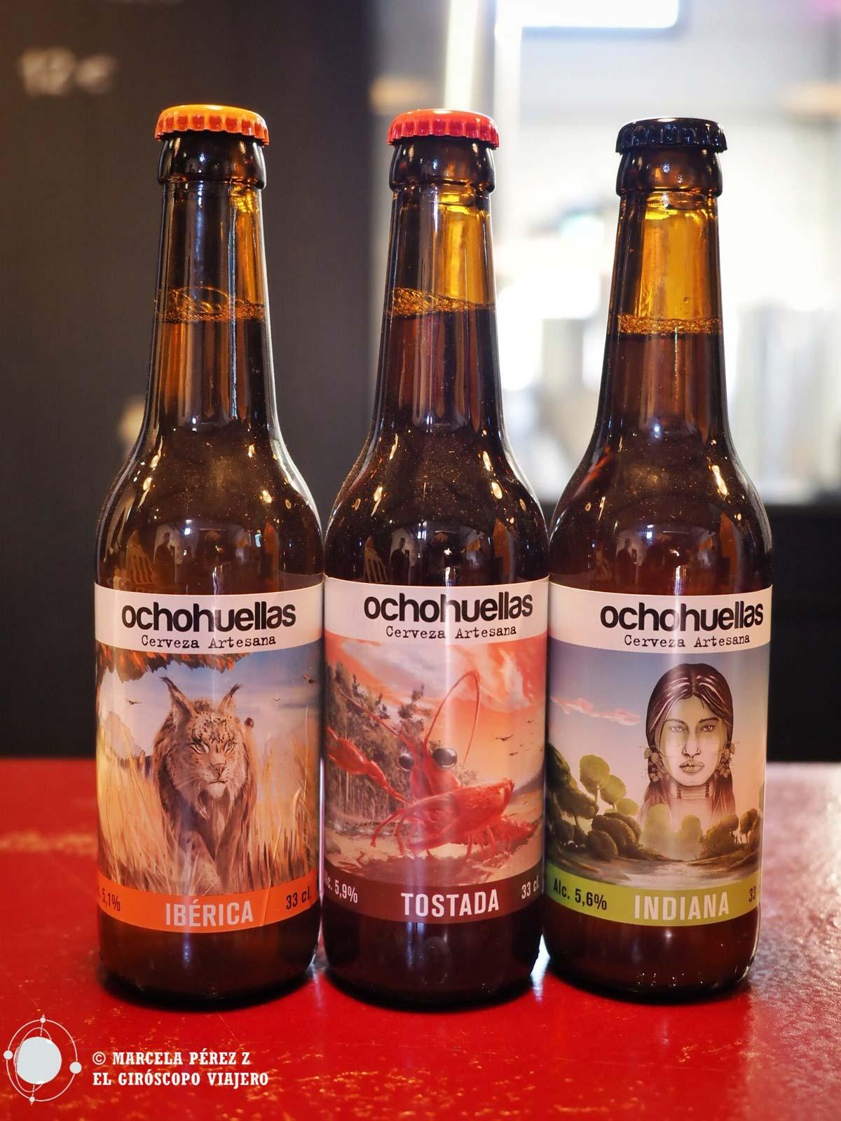 Las tres cervezas de Ocho Huellas